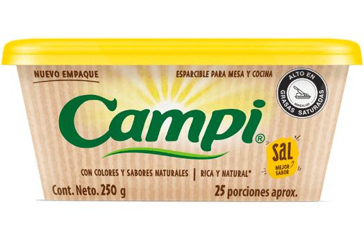Margarina esparcible con sal Campi, para tus preparaciones de desayuno más deliciosas