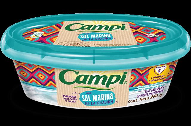 Margarinas esparcibles - Campi margarina esparcible con sal marina