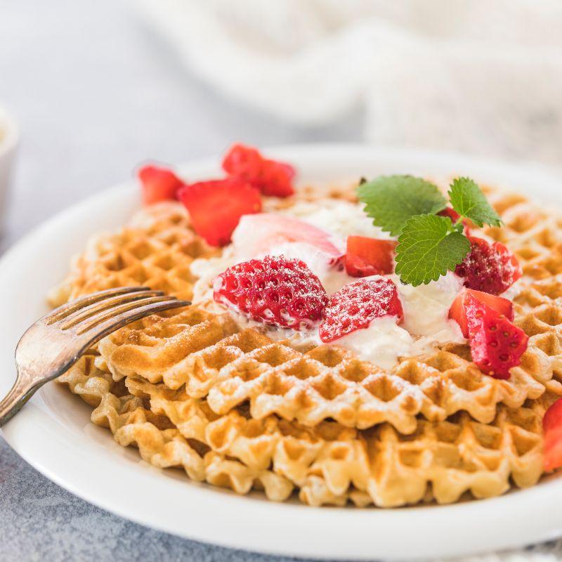 Ideas para preparar ricos waffles al desayuno